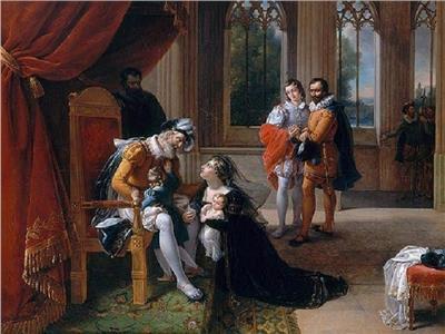 جثة «إينيس» عشيقة الملك «بيدرو» الأول ملك البرتغال وهي على العرش