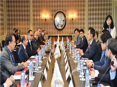 خلال فعاليات الدورة الأولي لاجتماعات مجلس الأعمال المصري الكوري