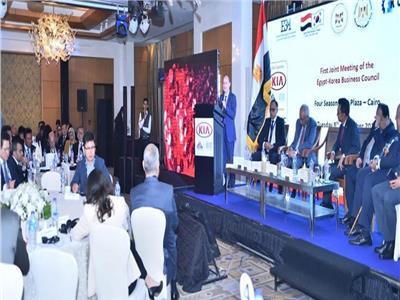 خلال إفتتاحه لفعاليات منتدى الأعمال المصري الكوري