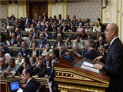 د.عاصم الجزار خلال جلسة البرلمان اليوم