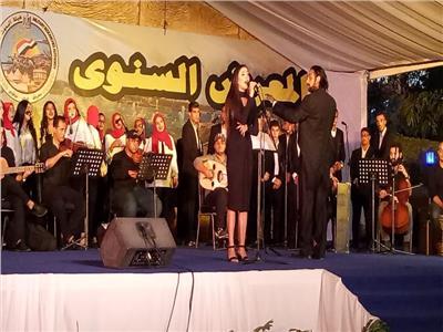 طلاب جامعة عين شمس يبهرون الحضور بأحتفالات النصر ببانوراما أكتوبر
