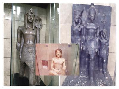 حراس المترو..  «الفراعنة» يراقبون تحركات المصريين في الألفية الثالثة