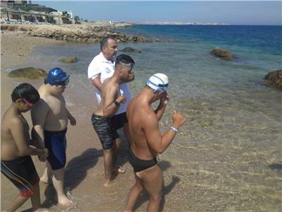 تدريبات المنتخب العربى لذوى الإعاقة الذهنية