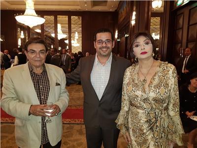 نبيلة عبيد والمخرج محمد تركي وسمير صبري