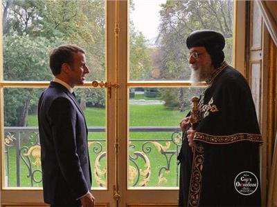 الرئيس الفرنسي يستقبل البابا تواضروس
