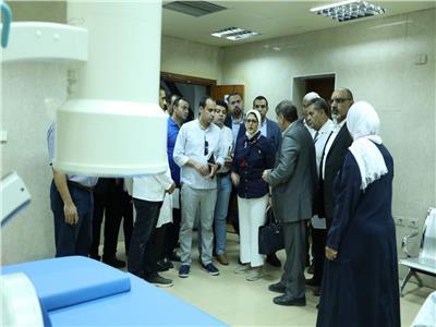 جانب من زيارة المنشأت الطبية بجنوب سيناء