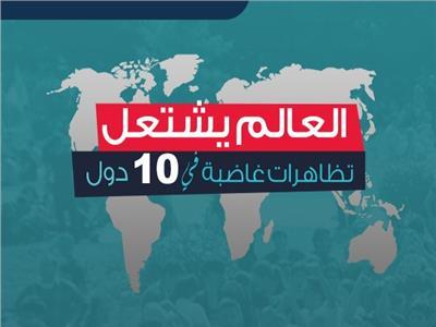 العالم يشتعل.. مظاهرات غاضبة بـ10 دول