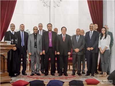 رئيس الإنجيلية يشهد رسامة شيوخ وشمامسة جدد لكنيسة السراي بالإسكندرية