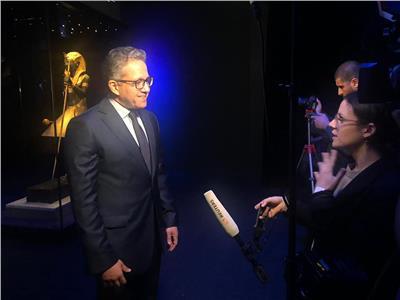 لقاءات صحفية علي هامش افتتاح معرض توت عنخ امون بلندن
