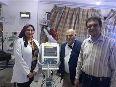 اهالي قرية يتبرعون بجهاز تنفس متتعدد السرعات لمستشفي زفتي