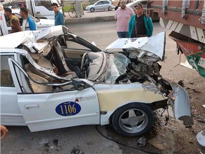 مصرع شخصين في حادث تصادم بمدخل دمنهور