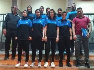 منتخب جامعة المنصورة بنات  يحرز برونزية  البطولة العربية للجامعات للكرة الخماسية