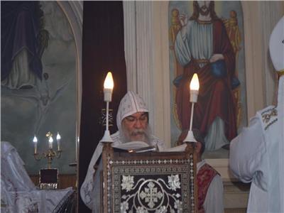 قداس لذكرى السنة الأولى لشهداء حادث طريق الأنبا صموئيل