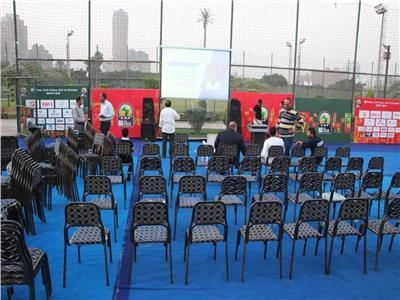 مركز شباب الجزيرة يستعد لعرض مباراة مصر ومالي