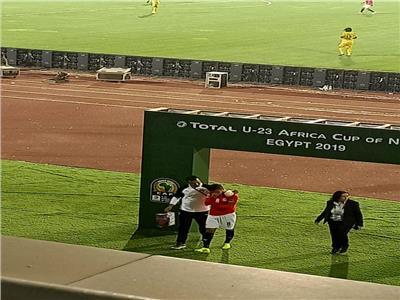 دموع ناصر ماهر بعد إصابته أمام مالي