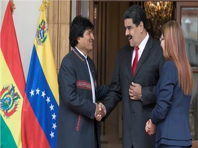 نيكولاس مادورو وإيفو موراليس