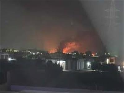 موقع حريق خط بترول إيتاى البارود