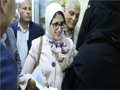 وزيرة الصحة تتفقد المركز الطبي الحضري بطور سيناء