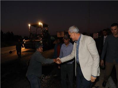 محافظ المنوفية يتفقد أعمال رصف طريق «شبين الكوم - طملاي»