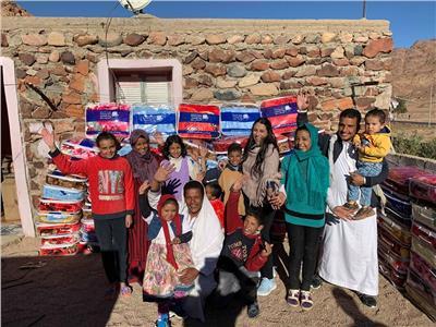 بنك الكساء يدعم قرى سانت كاترين بقافلة كساء