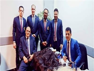 رجال الجمارك بالإدارة الثانية بمبني الركاب رقم 3 بمطار القاهرة