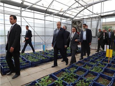 خلال افتتاح توسعات معهدي الهندسة الوراثية وتكنولوجيا الأغذية
