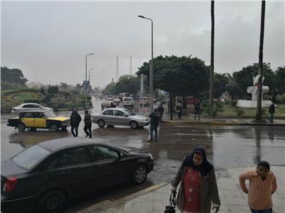 أمطار غزيرة في الإسكندرية