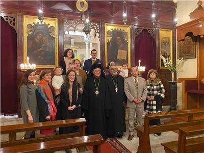 بطريرك الروم الكاثوليك يزور كنيسة القديس جاورجيوس بالرضوانية