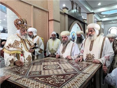 """بيد البابا تواضروس .. تدشين كنيسة الشهيد """"أبو فام"""" بطما"""