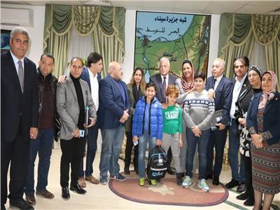 """""""فودة"""" يستقبل لجنة الثقافة والإعلام والأثار بمكتبه بشرم الشيخ على هامش زيارتهم للمحافظة"""