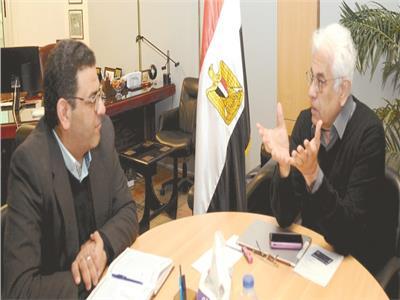 د. حسام بدراوي خلال حواره مع الزميل حازم بدر