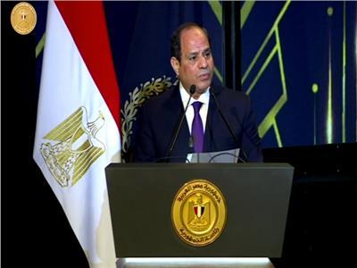 الرئيس عبد الفتاح السيسي خلال كلمته باحتفالية عيد الشرطة
