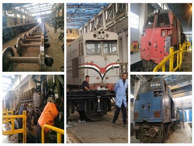 فيديو| ورشة التبين.. إعادة الروح لجرارات السكة الحديد