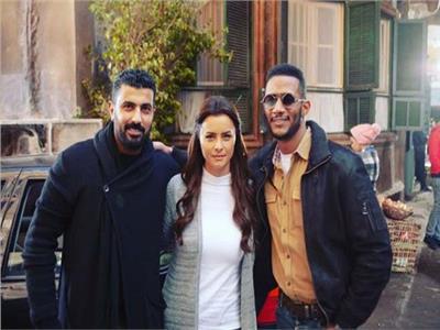 محمد رمضان ونور ومحمد سامي
