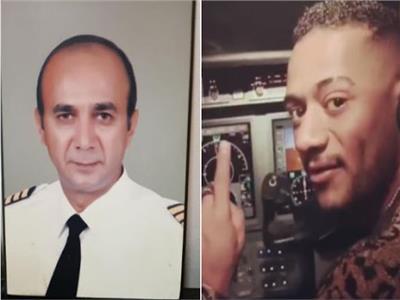 الطيار أشرف أبو اليسر والفنان محمد رمضان