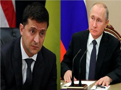 فولوديمير زيلينسكي وفلاديمير بوتين