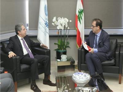 وزير المالية اللبناني غازي وزني يلتقى برونو فوشيه سفير فرنسا
