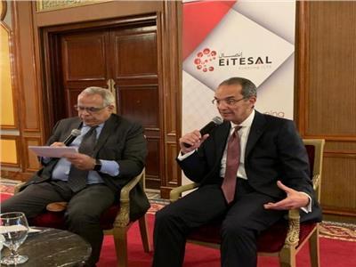 الدكتور عمرو طلعت وزير الاتصالات والدكتور حازم الطحاوي