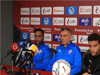 مصطفى فتحي خلال المؤتمر الصحفي