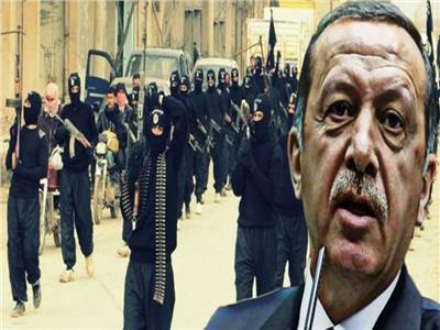 إردوغان متعهد ضخ الإرهابيين للدول الإسلامية يرفع رايات الخلافة