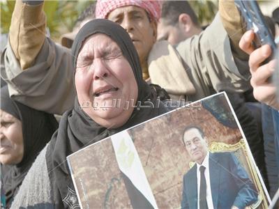 صورة من جنازة الرئيس الراحل حسنى مبارك