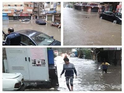أهالي عزبة النخل بالقاهرة يستغيثون لإنقاذهم من مياه الأمطار