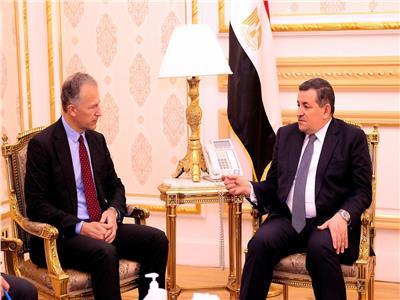 هيكل يلتقي السفير الأمريكي لدى القاهرة