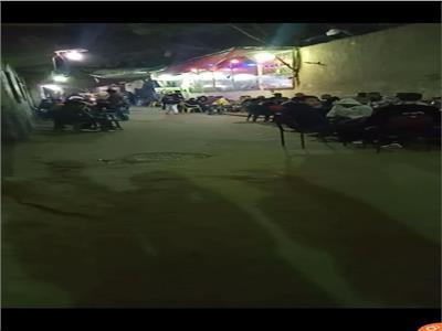 أحد المقاهي المزدحمة في شارع الشريف بمنطقة بولاق الدكرور