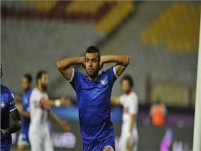 حسام حسن مهاجم نادي سموحة
