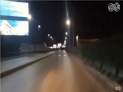 كوبري اكتوبر يخلو من السيارات بسبب كورونا