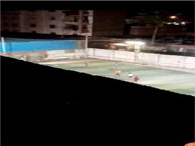 ماتش كرة قدم في المرج رغم حظر التجوال