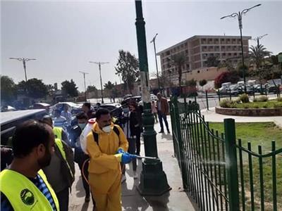 تعقيم مدارس ومساجد ومنشآت العامة بالقاهرة لمواجهة كورونا