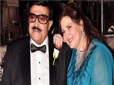 الفنان سمير غانم وزوجتة الفنانة دلال عبد العزيز