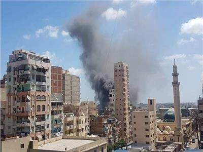 حريق هائل بمصنع الصابون والصودا بالإسكندرية